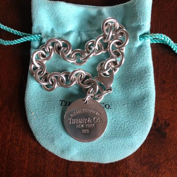 bc5058cbe4f Tiffany & Co. Jewelry | Tiffany Co Round Dog Tag Bracelet | Poshmark